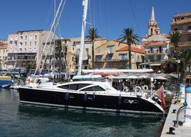 Curanta Cridhe's first charter in the Med