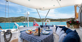 Luxury yacht charter food and drink